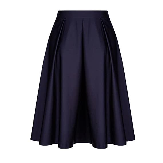 OHQ Vestidos Mujer Vintage Solid Princesa Volantes Cocktail Party A-Line Swing Skirt Vestir Ropa