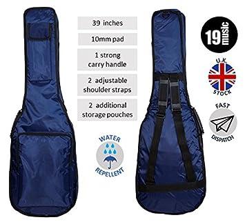 """Color azul metálico oscuro 39 """"39 pulgadas fuerte acolchado interior capa Deluxe Premium calidad"""