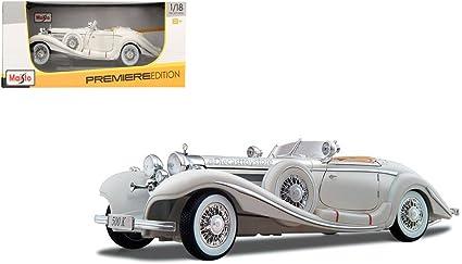 1936 Mercedes Benz 500K Special Roadster Maisto Premiere 36862 1//18 Diecast Car