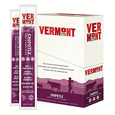 Vermont Smoke and Cure Chipotle Beef and Pork Dried Meat Snack, 1 oz