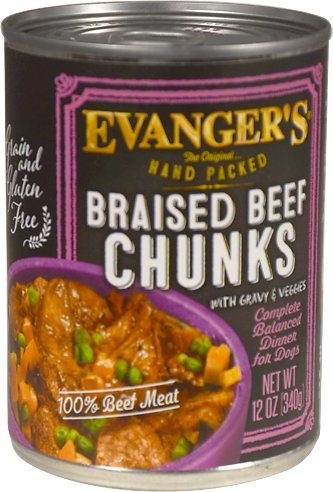 (Evanger'S Super Premium For Dogs Braised Beef Chunks With Gravy, 12 Pack)