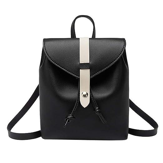 ecd59c3bbe6e Amazon.com  Womens Double Shoulder Bag Small Backpack Purse Mobile Phone Messenger  Bags Black  Clothing