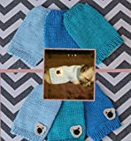 Teeny Tiny Hand Knit Dog/Puppy/Kitten Sweater for 1 to 1 1/2 lbs XXXS for Chihuahua Yorkie Maltese Pomeranian Teacup Puppies