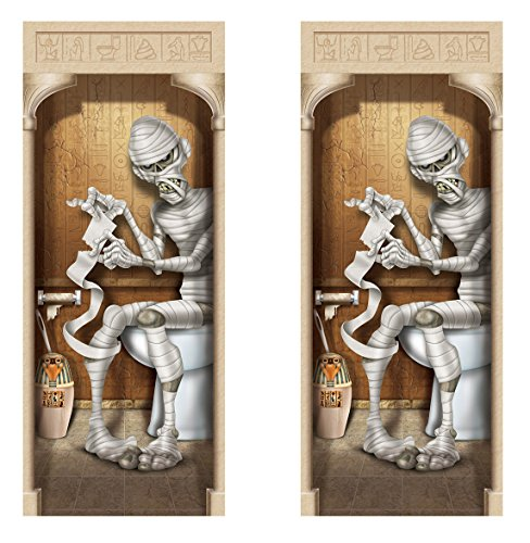 Beistle 00379, 2 Piece Mummy Restroom Door Covers, 30