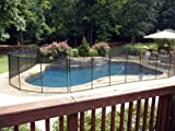 Sentry Safety Pool Fence Quality Pool Fencing 4' Tall 12' Long Removable Child Barrier Pool Safety Mesh Fence (Black)