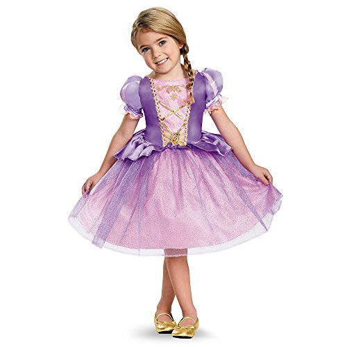 Disney Princess Halloween Costumes For Toddlers (Rapunzel Toddler Classic Costume, Medium (3T-4T))