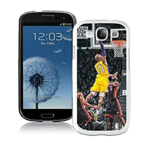 kobe bryant dunks White Samsung Galaxy S3 I9300 Screen Cover Case Handmade and Personalized Design