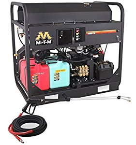 Mi-T-M HS-4004-1MAH Pressure Washer, Hot Water/Gas Driven/Oil Fired, 4000 psi, 4.0 GPM