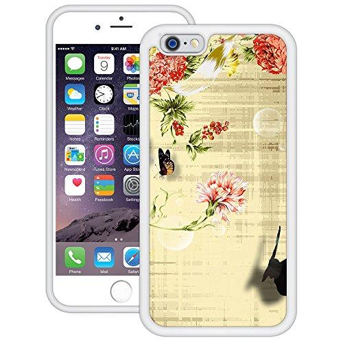 Vintage Schmetterlinge | Handgefertigt | iPhone 6 6s (4,7') | Weiß TPU Hülle