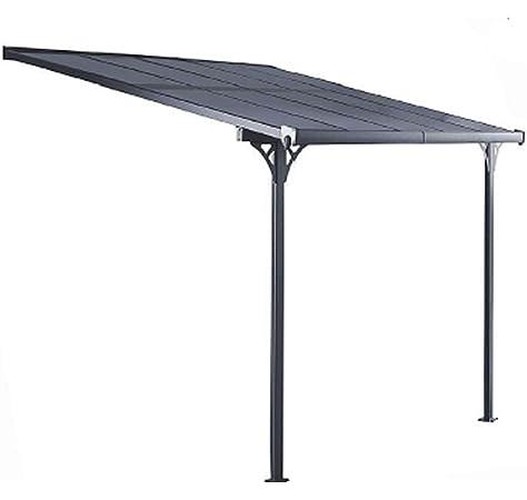 Evergreen - Pérgola de aluminio con techo de policarbonato ideal ...