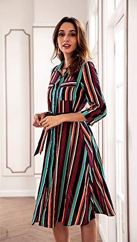Donna Autunno Verde Di Casual Moda Righe Da Abbigliamento Yljhy A Color Ybf7g6yv