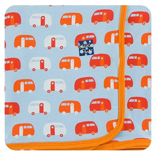 KicKee Pants Little Boys Print Swaddling Blanket - Pond Camper, One Size