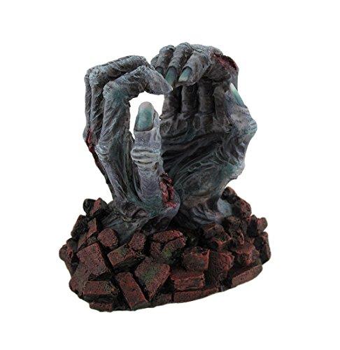 Zombie Heart (Resin Statues Zombie Love Undead Hands Forming Heart Desktop Figurine 5 X 5 X 4 Inches Green Model # WU76467VA)