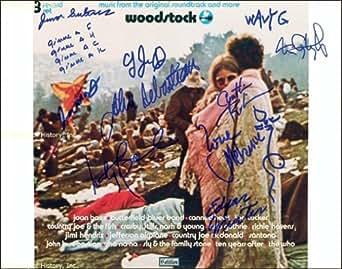 WOODSTOCK - PHOTOGRAPH SIGNED CO-SIGNED BY: LOVIN' SPOONFUL (JOHN SEBASTIAN), JEFFERSON AIRPLANE (MARTY BALIN), GRATEFUL DEAD (TOM CONSTANTEN), EDGAR WINTER, WAVY GRAVY, COUNTRY JOE & THE FISH (JOE McDONALD), SLY AND THE FAMILY STONE (CYNTHIA ROBINSON), SLY AND THE FAMILY STONE (JERRY MARTINI), JUMA SULTAN, MELANIE