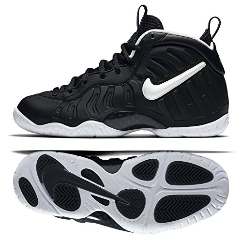 NIKE Little Posite Pro (GS) DR Doom 644792-006 Black/White Big Kids Shoes (Size 5.5Y)