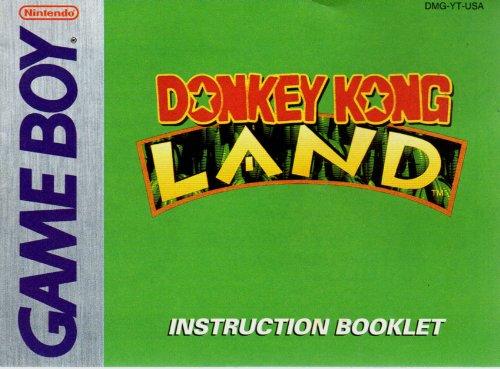 Donkey Kong Land GB Instruction Booklet (Game Boy Manual Only - NO GAME) (Nintendo Game Boy - Land Boy Game Kong Donkey