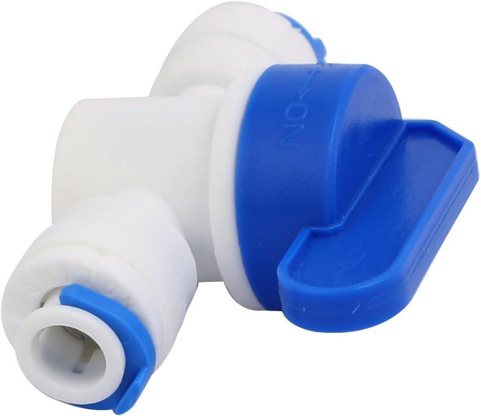 sourcing map a16061500ux0290 10mm Diametro Esterno a Doppia modalit/à Leva Rotante Acqua in plastica raccordi della tubazione della valvola a Sfera