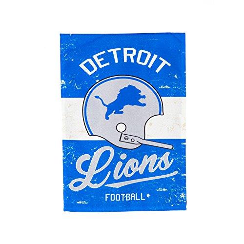 """Team Sports America Detroit Lions NFL Vintage Linen House Flag - 28""""W x 44""""H ()"""