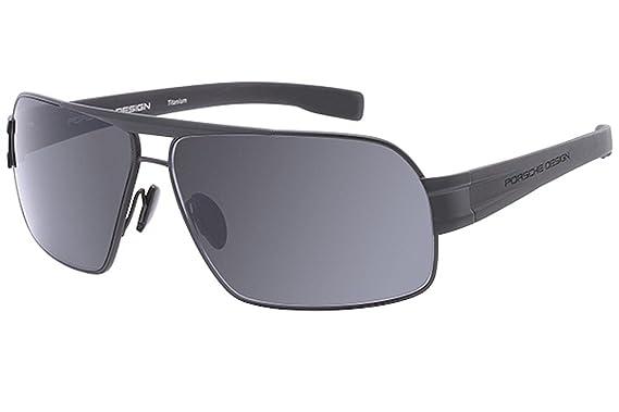 66e16aec2ac1 Porsche Design P8543 A Black Grey Aviator sunglasses  Amazon.co.uk  Clothing
