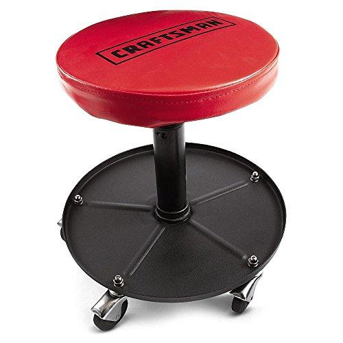 Adjustable mechanics tool garage handyman seat stool for Garage seat vosges
