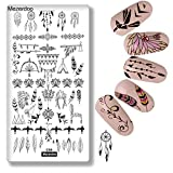 1Pcs Exotic Dreamcatcher Nail Art Stamp Plate Feather Collection Stamping Image Plates Manicure Nail Designs DIY Metal Templates Deco