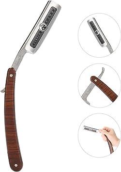 Máquina de afeitar Manual de afeitar barbero de acero inoxidable ...
