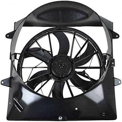 Dual Radiator Condenser Cooling Fan Assembly For Jeep Cherokee 4.0 L6
