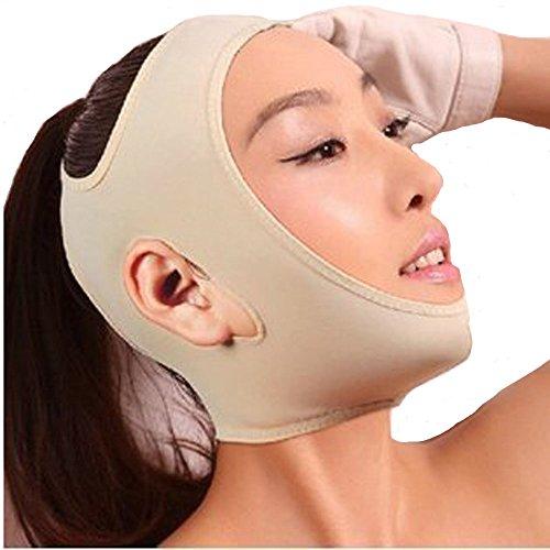 MakeupAcc® Anti Wrinkle Half Face Slimming Cheek Mask Lift V Face Line Slim up Belt Strap (Full cream-M)