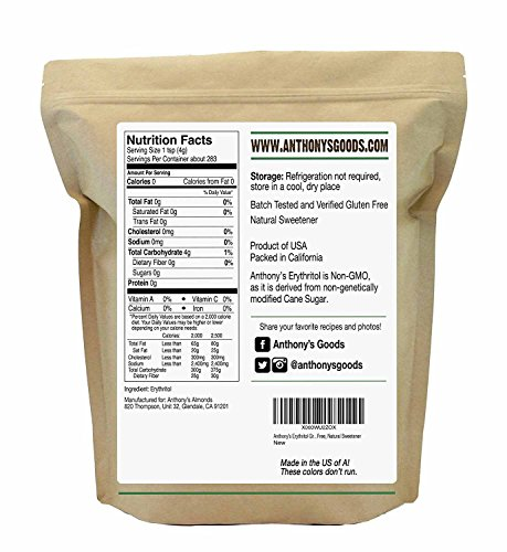 Review Erythritol Granules (2.5lbs) by