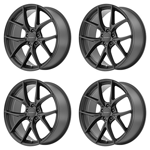 KMC KM694 WISHBONE Satin Black Wheel Chromium (hexavalent compounds) (20 x 8.5 inches /5 x 72 mm, 20 mm - Rims 20 For Charger