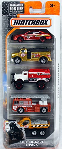 Matchbox, 2016 Fire Brigade 5-Pack
