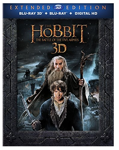 Blu-ray 3D : The Hobbit: The Battle Of The Five Armies (With Blu-Ray, With DVD, Extended Edition, 3 Dimensional, Digitally Mastered in HD)