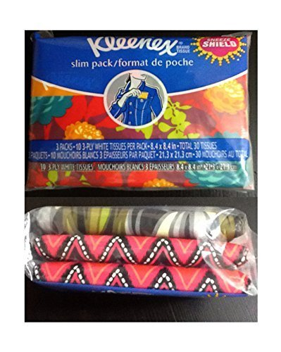 Kleenex 3 Count Slim Pack Wallet Size (2 Pack) = 60 Tissues - Most Elegant Look Of Any Portable Tissue Anywhere