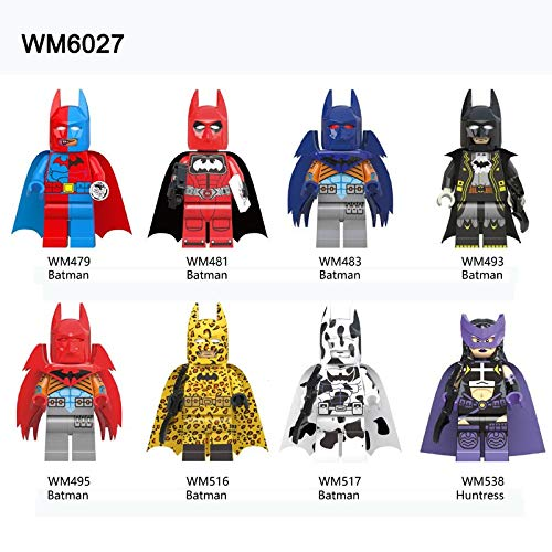 DORISE Lego Spiderman ABS 8pcs Without Original Boxes. Deadpool Domino Electric Cable Peter Warhead Figure Bricks Building Blocks Toys. -