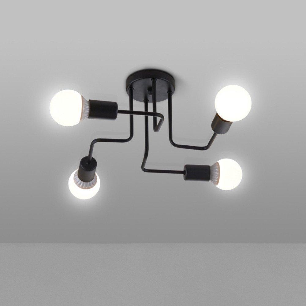 Vintage ceiling lights lamps for living room bedroom luminaria de teto e27 modern ceiling lamp home lighting fixtures 4 heads amazon com