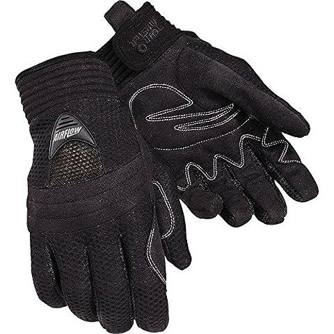 Tour Master Airflow Men's Textile Sports Bike Motorcycle Gloves - Black / 2X-Large - Textile Motorcycle Gloves