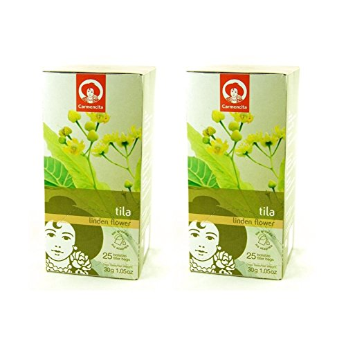Spanish Linden Flower Tea (Tila / Tilo) by Carmencita (Pack of 2) (Linden Herbal Tea)