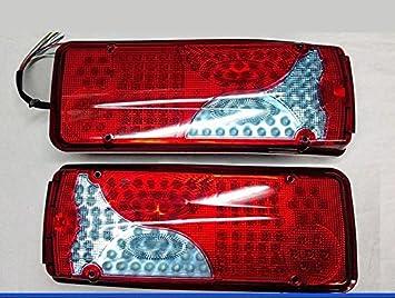 2 x 12 V LED trasera recuperación cola Lámparas Luces Camión Remolque chasis para caravana y autocaravana Bus: Amazon.es: Coche y moto