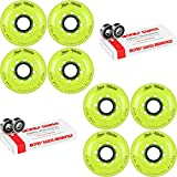 Labeda Inline Roller Hockey Skate Wheels Addiction Yellow 76mm 8 Set Bones Swiss