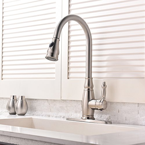 single handle faucet with sprayer - 3
