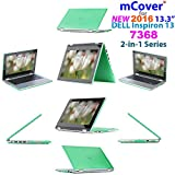 "iPearl mCover Hard Shell Case for 2016 13.3"" Dell Inspiron 13 7368 / 7378 2-in-1 Convertible ( NOT compatible with older Dell Inspiron 7347 / 7348 / 7352 / 7359 models ) Laptop (Green)"