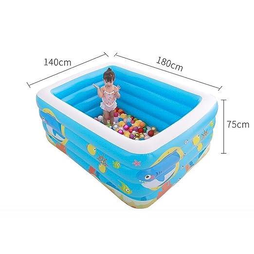 WangQ Piscina Inflable para niños Baño para el bebé Hogar Grande ...