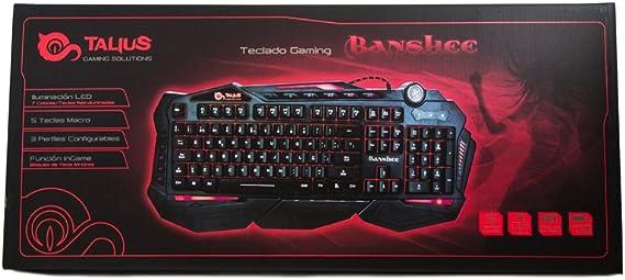 Talius Banshee - Teclado Gaming programable, retroiluminado, Tres perfiles, Software de personalización