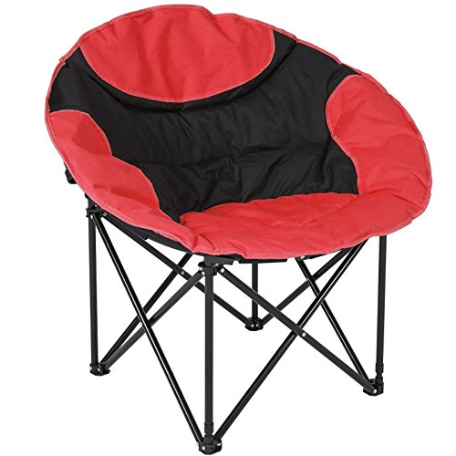 Trendy Folding Lightweight Moon Camping Chair Outdoor Sport Red Keep You Comfortable No Matter Where You take - Hut Myers The Fl Fort