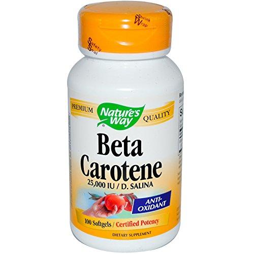 Beta Carotene,25,000 IU / D. Salina, 100 Softgels by Nature's Way (pack of 8) by Nature's Way (Image #1)
