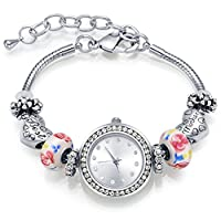 Charm Bracelets for Women MANBARA Watches with Heart Charms Bracelet Best Mother Bangle Mom Gifts