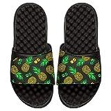 ISlide Nickelodeon Spongebob Squarepants - Pineapple Pattern Sandals- Black, 10