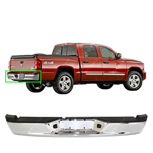 Dodge Dakota Step Bumper - MBI AUTO - Chrome, Steel Rear Step Bumper Assembly for 2005 2006 2007 2008 2009 2010 2011 Dodge Dakota Pickup 05-11, CH1103113
