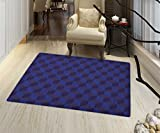 Shadow Box Coffee Table Indigo Non Slip Rugs 3D Print Like Geometrical Futuristic Inspired Shadow Boxes Cubes Image Print Indoor/Outdoor Area Rug 32