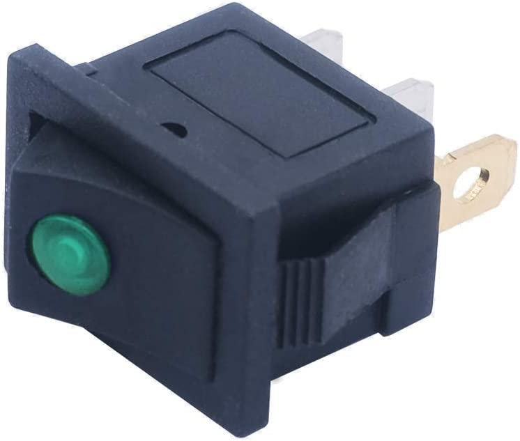 Use for Car Auto Boat 1 Years Warranty KCD1-102NG-MY mxuteuk 8pcs 12V Green Light Illuminated Snap-in Boat Rocker Switch Toggle Power SPST ON-Off 3 Pin AC 250V 6A 125V 10A